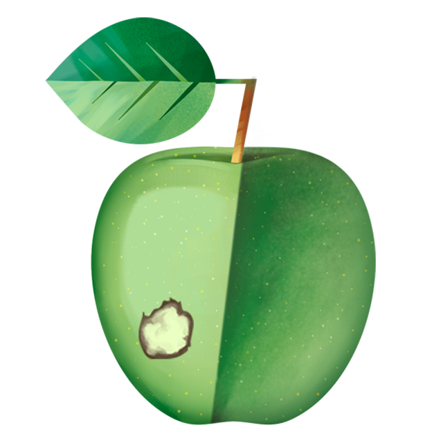 Flecken Apfel