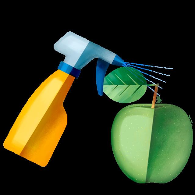 Sprühflasche Apfel